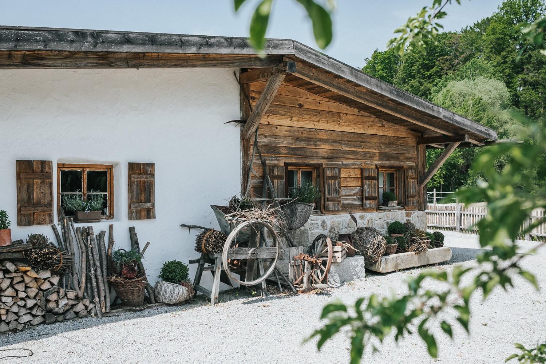 freie Trauung auf Gut Aichet, Aufnahmen der Jagdhütte
