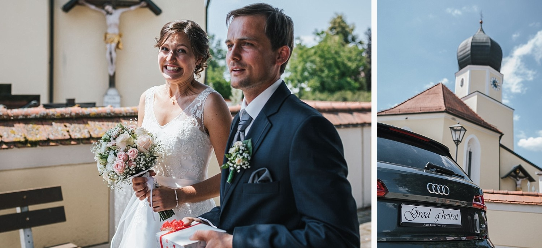 Hochzeit im Nothaftgewöbe Hengersberg, Deggendorf, das Brautpaar ist erleichtert nach der Trauung