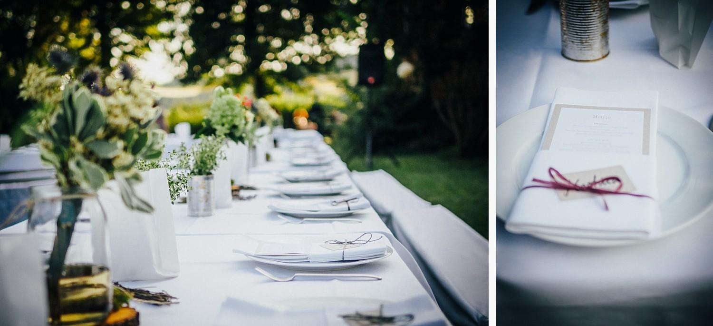 Hochzeit in Dobbrikow, Detailaufnahmen von der Tischdeko
