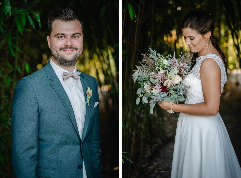 Hochzeit im Hofgut Hafnerleiten, Bad Birnbach, Paarshooting, Einzelportraits des Brautpaars