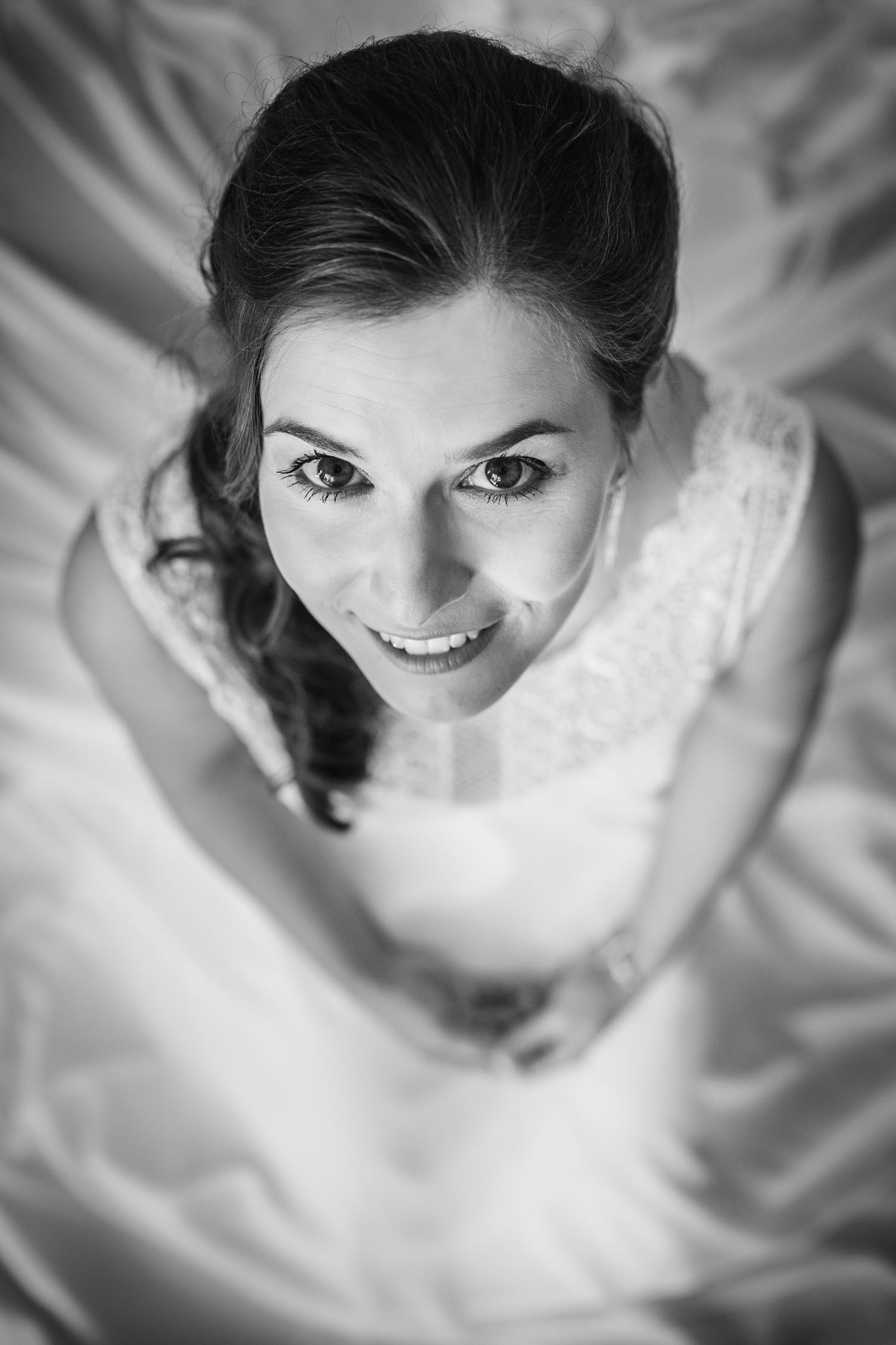 Hochzeit in Bad Birnbach, Getting Ready in Osterhofen, Portraitaufnahme Braut