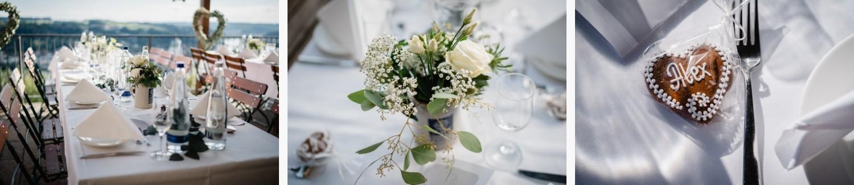 Hochzeit im Restaurant Das Oberhaus Passau, Dekoaufnahmen