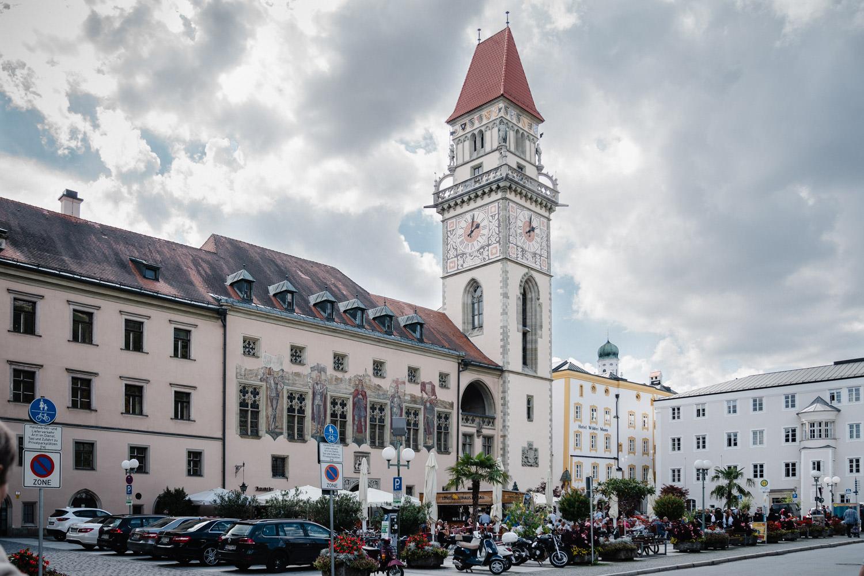Hochzeit in Passau, Aufnahme vom Rathaus