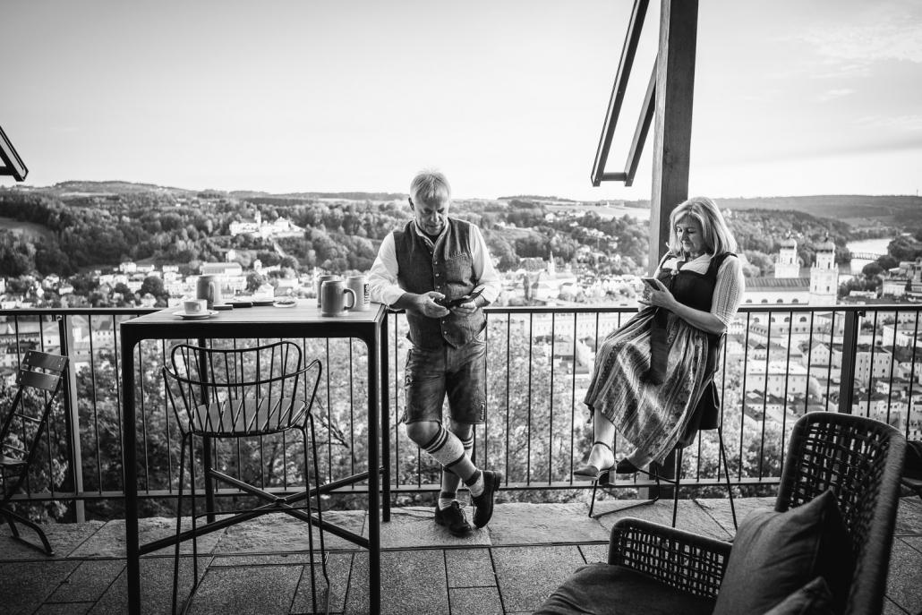 Hochzeit in der Veste Oberhaus Passau, schöne Aussicht