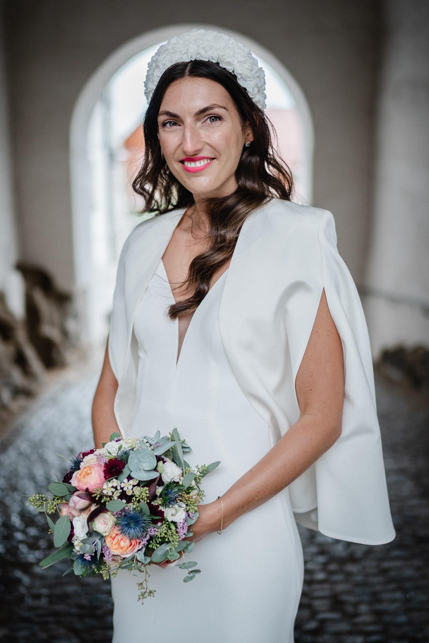 Hochzeit auf der Veste Oberhaus, Paarshooting, Portrait der Braut