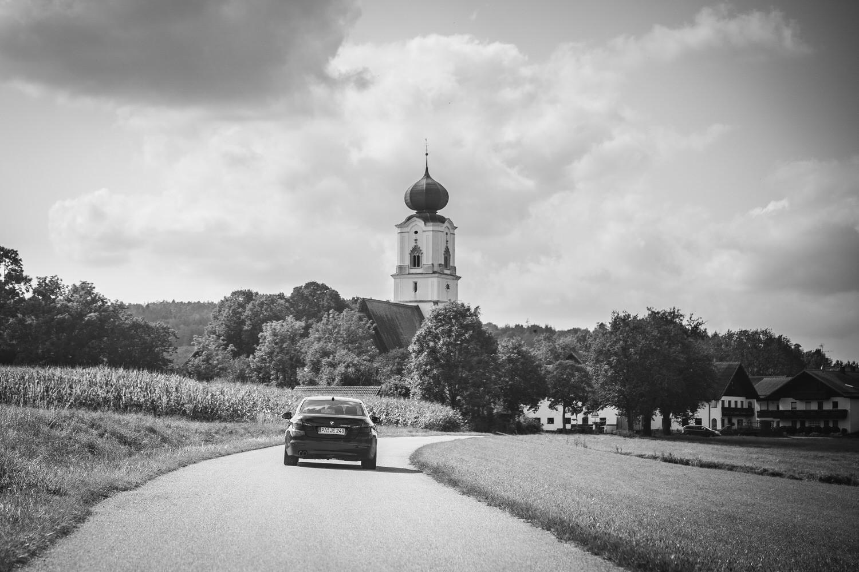 kirchliche Hochzeit in Grongörgen, Bad Birnbach, Fahrt zur Kirche