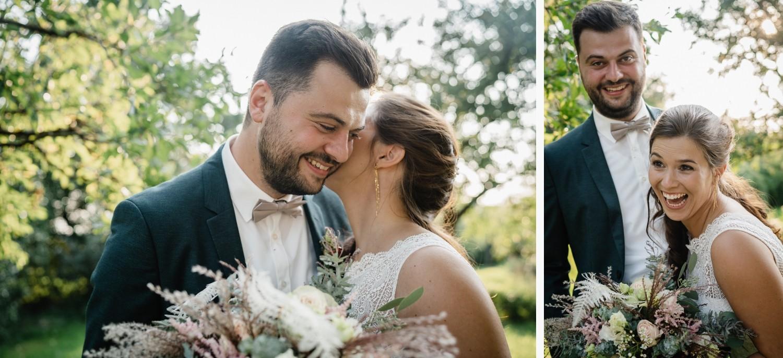 Hochzeit im Hofgut Hafnerleiten, Bad Birnbach, Paarshooting, Paar albert herum