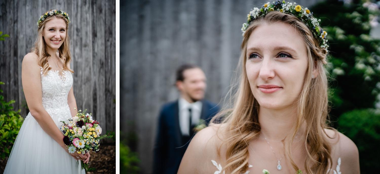 Hochzeit in Fürstenzell, Paarshooting, Braut einzeln und im Fokus